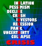 κρίση οικονομική Στοκ Εικόνες