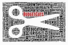 Κρίση, περικοπές προϋπολογισμού Στοκ Φωτογραφίες