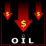 Κρίση πετρελαίου. Στοκ Εικόνες