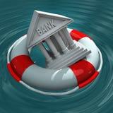 Κρίση τράπεζας Στοκ φωτογραφίες με δικαίωμα ελεύθερης χρήσης