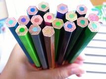 κραγιόνια πολύχρωμα Στοκ Εικόνες