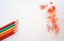 κραγιόνια χρωματισμένα μολύβια χρωματισμένα μολύβια Στοκ φωτογραφίες με δικαίωμα ελεύθερης χρήσης