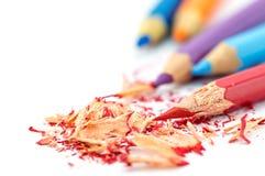 κραγιόνια χρωματισμένα μολύβια χρωματισμένα μολύβια Στοκ Εικόνες