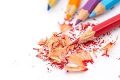 κραγιόνια χρωματισμένα μολύβια χρωματισμένα μολύβια Στοκ φωτογραφία με δικαίωμα ελεύθερης χρήσης