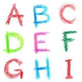 κραγιόνι ι αλφάβητου lettrs Στοκ Εικόνα