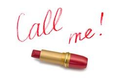 κραγιόν κλήσης εγώ λέξεις Στοκ εικόνα με δικαίωμα ελεύθερης χρήσης