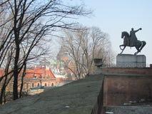 Κρακοβία από Battlements Wawel Castle Στοκ φωτογραφία με δικαίωμα ελεύθερης χρήσης
