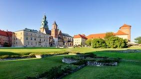 Κρακοβία, κάστρο Wawel στην Πολωνία Στοκ φωτογραφία με δικαίωμα ελεύθερης χρήσης