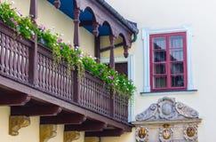 Κρακοβία (Κρακοβία) - παλαιό μπαλκόνι της Πολωνίας Στοκ Φωτογραφίες