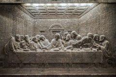 ΚΡΑΚΟΒΙΑ, POLAND/EUROPE - 19 ΣΕΠΤΕΜΒΡΊΟΥ: Άγαλμα το τελευταίο βραδυνό στοκ εικόνα