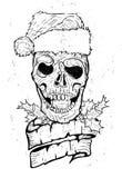 Κρανίο δερματοστιξιών Χριστουγέννων Στοκ φωτογραφία με δικαίωμα ελεύθερης χρήσης