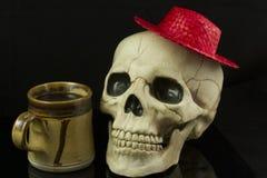 Κρανίο και καπέλο Στοκ εικόνα με δικαίωμα ελεύθερης χρήσης