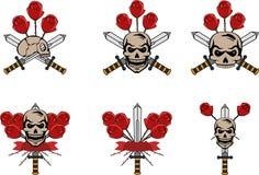 Κρανίο και τριαντάφυλλα Στοκ Εικόνες