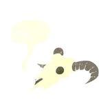 κρανίο κριού κινούμενων σχεδίων με τη λεκτική φυσαλίδα Στοκ φωτογραφία με δικαίωμα ελεύθερης χρήσης