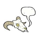 κρανίο κριού κινούμενων σχεδίων με τη λεκτική φυσαλίδα Στοκ Εικόνα