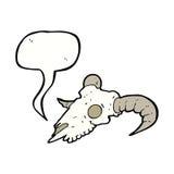 κρανίο κριού κινούμενων σχεδίων με τη λεκτική φυσαλίδα Στοκ Φωτογραφίες