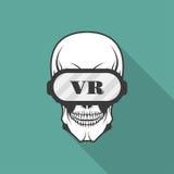 Κρανίο με τα γυαλιά της εικονικής πραγματικότητας Στοκ φωτογραφίες με δικαίωμα ελεύθερης χρήσης