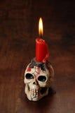κρανίο μορφής κεριών Στοκ εικόνες με δικαίωμα ελεύθερης χρήσης