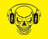 κρανίο μουσικής ακούσμα&t ελεύθερη απεικόνιση δικαιώματος