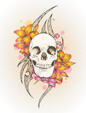 κρανίο λουλουδιών Στοκ φωτογραφίες με δικαίωμα ελεύθερης χρήσης