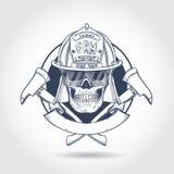 Κρανίο πυροσβεστών σκίτσων απεικόνιση αποθεμάτων
