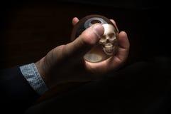 Κρανίο σφαιρών κρυστάλλου Στοκ Εικόνες