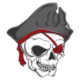 Κρανίο Zombie πειρατών Στοκ εικόνα με δικαίωμα ελεύθερης χρήσης