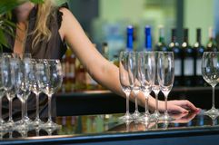 κρασί έκθεσης αλκοόλης Στοκ Εικόνες