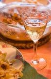 κρασί γυαλιού γευμάτων Στοκ φωτογραφίες με δικαίωμα ελεύθερης χρήσης
