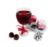 κρασί γυαλιού δώρων Στοκ εικόνα με δικαίωμα ελεύθερης χρήσης