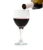κρασί γυαλιού μπουκαλιών Στοκ εικόνες με δικαίωμα ελεύθερης χρήσης