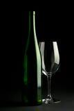 κρασί γυαλιού μπουκαλι στοκ εικόνες