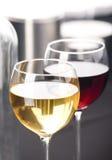 κρασί γυαλιών κινηματογρ Στοκ Εικόνα