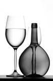 κρασί γυαλιών μπουκαλιών Στοκ Εικόνα