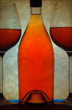 κρασί γυαλιών μπουκαλιών Στοκ εικόνες με δικαίωμα ελεύθερης χρήσης