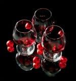κρασί γυαλιών σοκολάτα&sigma Στοκ Εικόνα