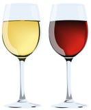 κρασί γυαλιών διανυσματική απεικόνιση