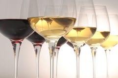 κρασί γυαλιών στοκ φωτογραφία