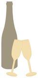 κρασί γυαλιών Απεικόνιση αποθεμάτων