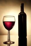 κρασί γυαλιού μπουκαλιών Στοκ φωτογραφία με δικαίωμα ελεύθερης χρήσης
