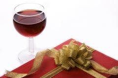 κρασί δώρων κιβωτίων Στοκ Εικόνα