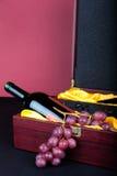 κρασί δώρων κιβωτίων Στοκ Φωτογραφίες