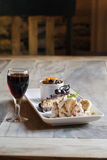 κρασί επιδορπίων κέικ μπαν&alp Στοκ εικόνα με δικαίωμα ελεύθερης χρήσης
