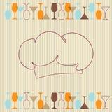 κρασί εστιατορίων καταλό& διανυσματική απεικόνιση