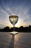 κρασί ηλιοβασιλέματος Στοκ φωτογραφίες με δικαίωμα ελεύθερης χρήσης