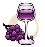 Κρασί και σταφύλια Στοκ Εικόνες