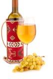 Κρασί και σταφύλια Στοκ Εικόνα