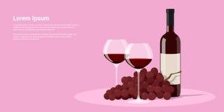 Κρασί και σταφύλια Στοκ εικόνες με δικαίωμα ελεύθερης χρήσης