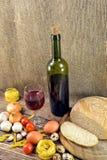 Κρασί και τρόφιμα Στοκ Εικόνα