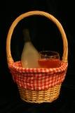 κρασί καλαθιών Στοκ Εικόνες